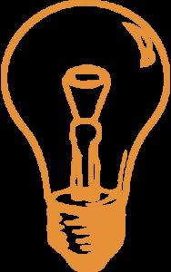 Bulb - orange - small