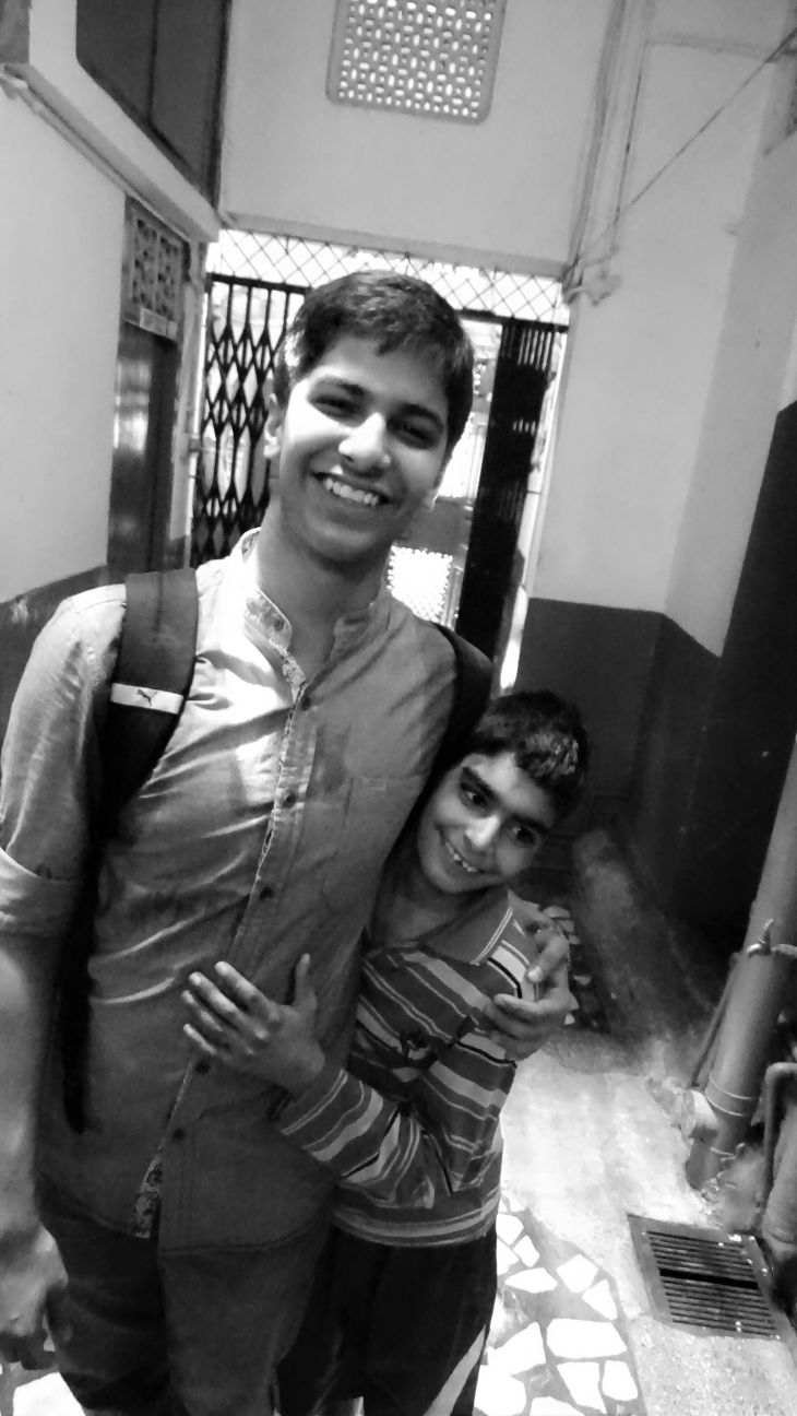 Yash made a friend at the Salaam Baalak Trust :)