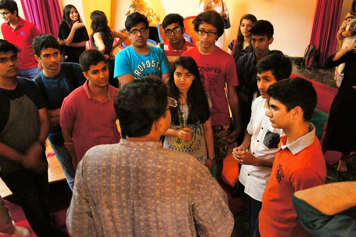 Students interact with Mr. Baijayant Panda, MP Lok Sabha