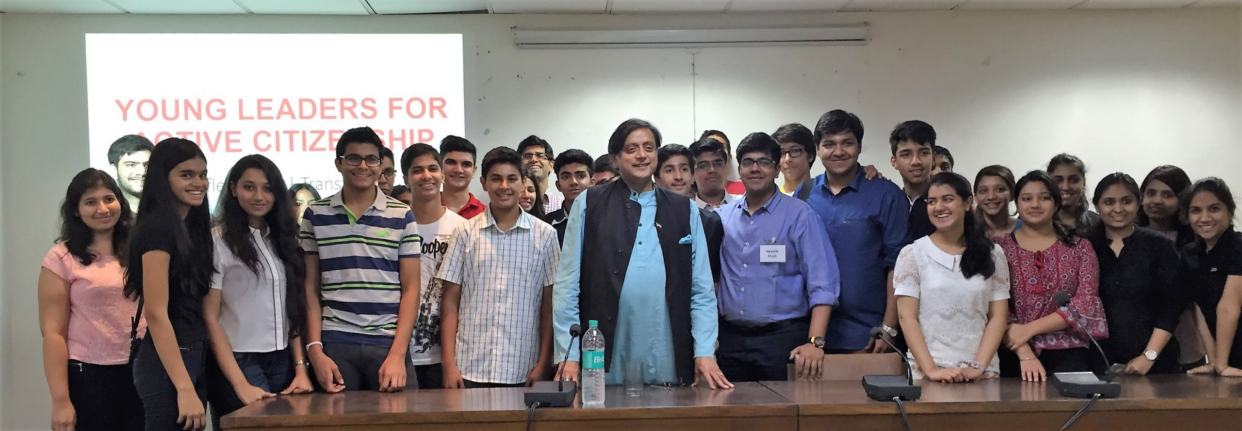Meeting with Dr. Shashi Tharoor