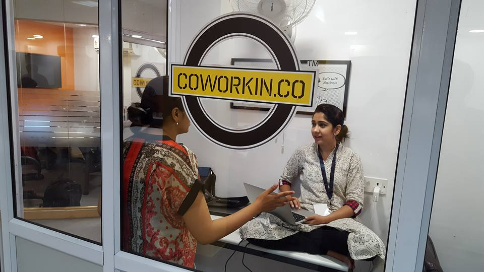 Teams get together to work on their projects in CoworkIn in Nehru Place